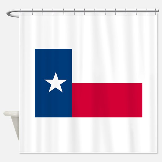 Texas State Flag Shower Curtain