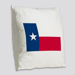 Texas State Flag Burlap Throw Pillow