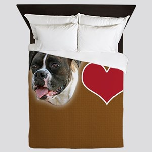 Boxer Heart Queen Duvet