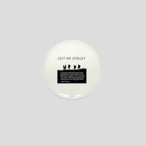 WWI Remembrance Mini Button