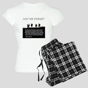 WWI Remembrance Women's Light Pajamas