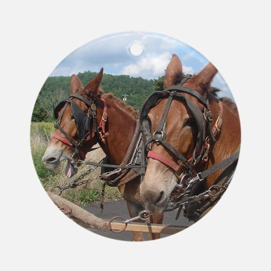 Two Mules for Sister Sue Round Ornament