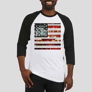 Retro Abstract American Flag Baseball Jersey