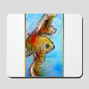 Gold fish, animal art Mousepad