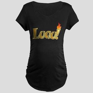 Hawaiian Luau Maternity Dark T-Shirt