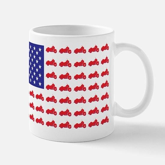Patriotic HOG Motorcycle Flag Mug