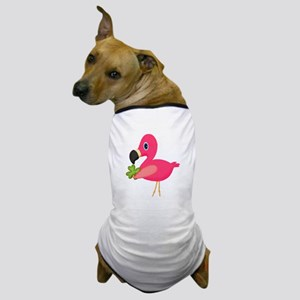 Pink Flamingo Shamrock Dog T-Shirt