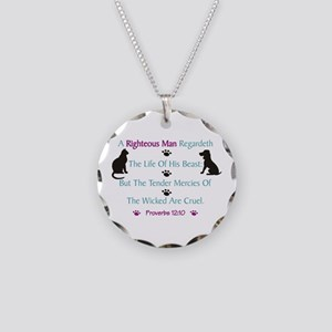 Righteous Care For Pets Necklace Circle Charm