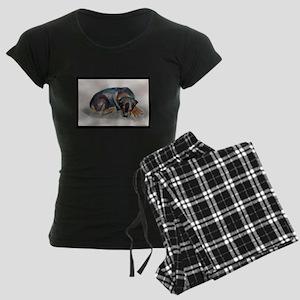 Sleeping Rottweiler Women's Dark Pajamas
