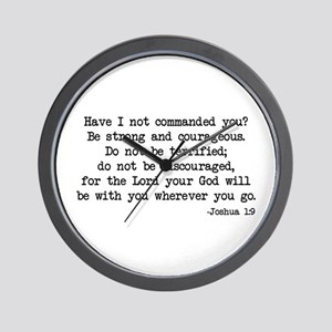 Joshua 1:9 Wall Clock