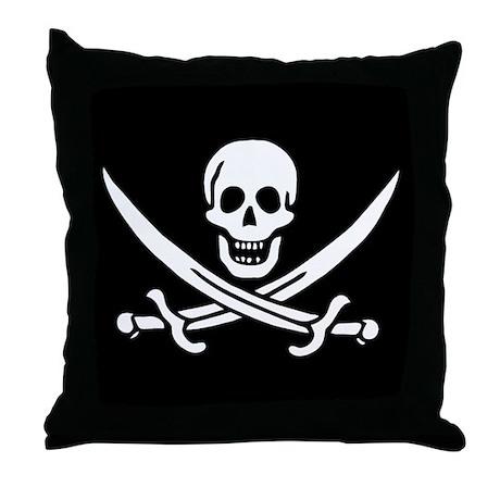 Pirate Flag of Calico Jack Throw Pillow