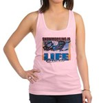 SNOWMOBILING-IS-LIFE- Racerback Tank Top