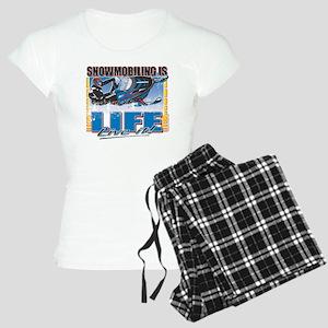 SNOWMOBILING-IS-LIFE- Pajamas