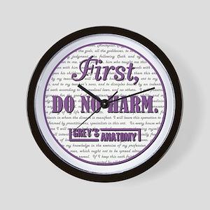 FIRST DO NO HARM Wall Clock
