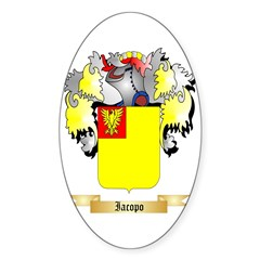 Iacopo Sticker (Oval 50 pk)