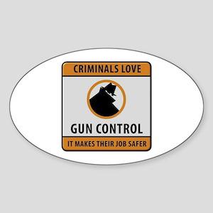 Criminals Love Gun Control Sticker