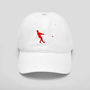 Red Hammer Throw Silhouette Baseball Cap