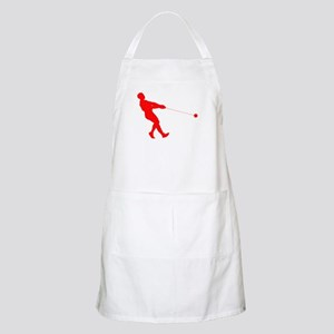 Red Hammer Throw Silhouette Apron