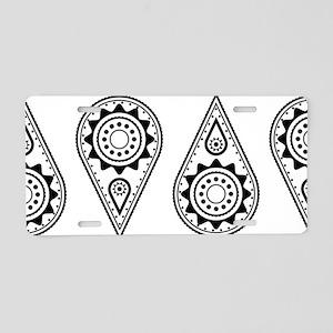 Teardrops Aluminum License Plate