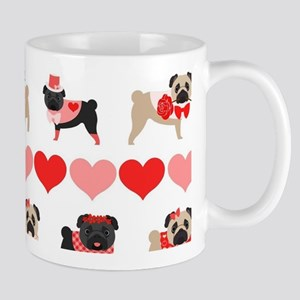 Pug Valentines and Hearts Mug