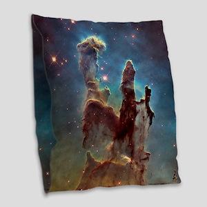 Pillars Of Creation Burlap Throw Pillow