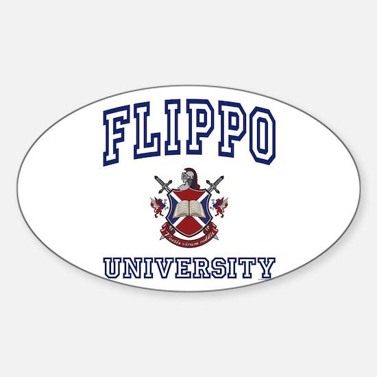 FLIPPO University Oval Decal