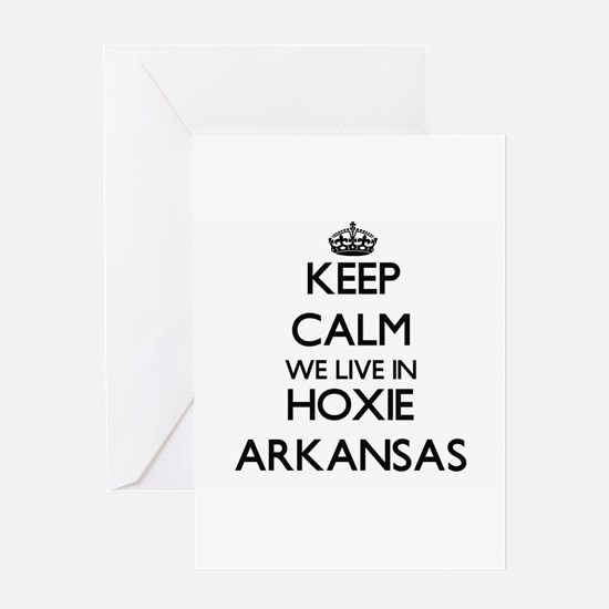 Keep calm we live in Hoxie Arkansas Greeting Cards