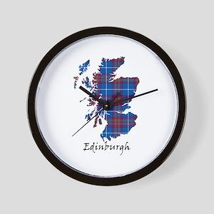 Map - Edinburgh dist. Wall Clock