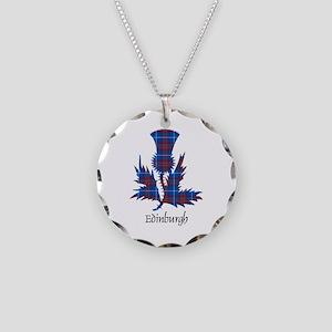 Thistle - Edinburgh dist. Necklace Circle Charm