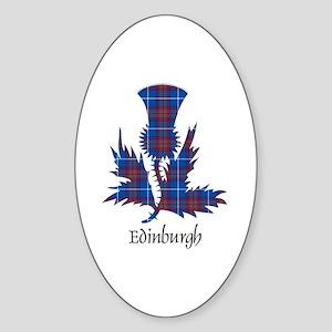 Thistle - Edinburgh dist. Sticker (Oval)