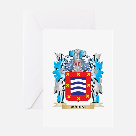 Marini Coat of Arms - Family Crest Greeting Cards