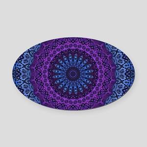 Twilight Mandala Oval Car Magnet