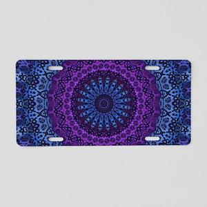 Twilight Mandala Aluminum License Plate