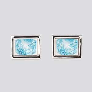 Tesseract Rectangular Cufflinks