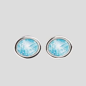 Tesseract Oval Cufflinks