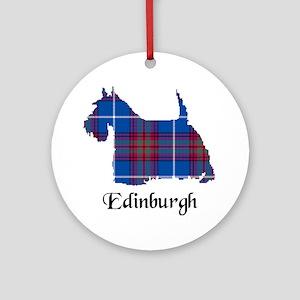 Terrier - Edinburgh dist. Ornament (Round)