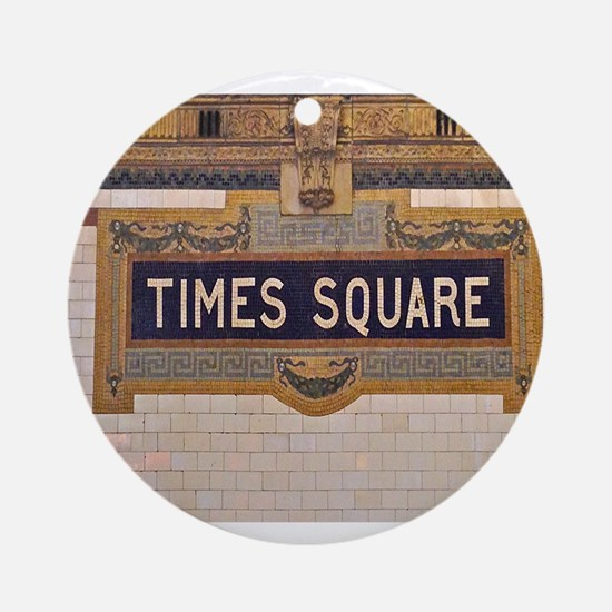 Times Square Subway Station Ornament (Round)