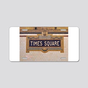 Times Square Subway Station Aluminum License Plate
