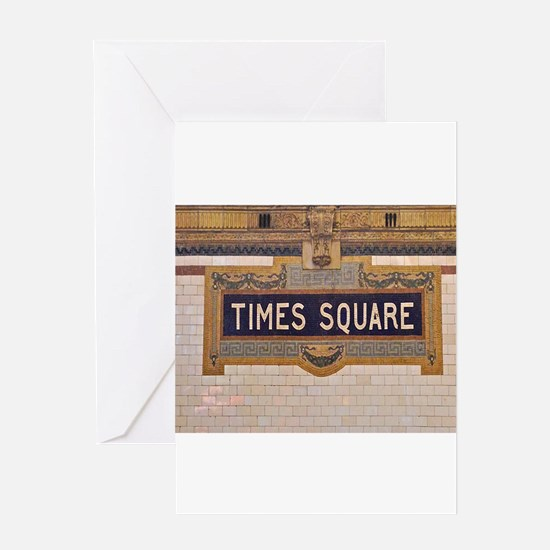 Times Square Subway Station Greeting Cards