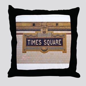 Times Square Subway Station Throw Pillow