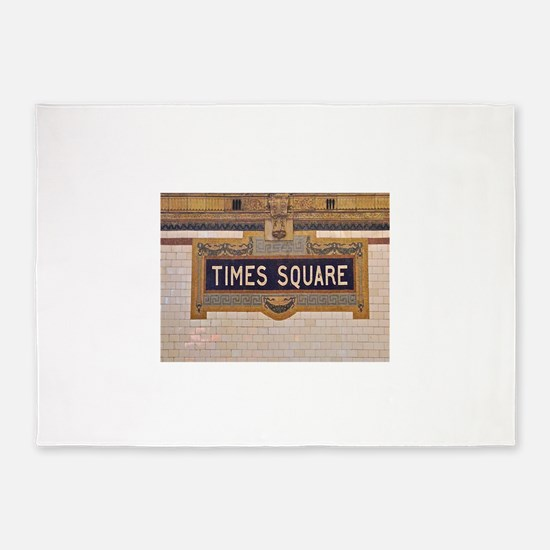 Times Square Subway Station 5'x7'Area Rug