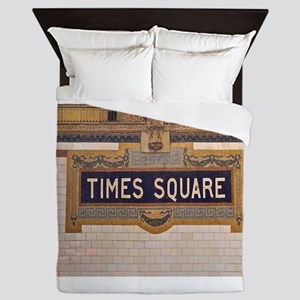 Times Square Subway Station Queen Duvet