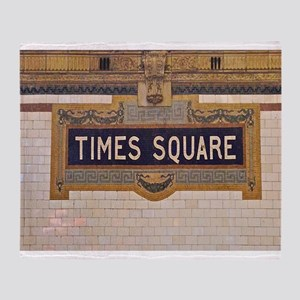 Times Square Subway Station Throw Blanket