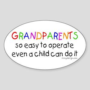 Grandparents Oval Sticker