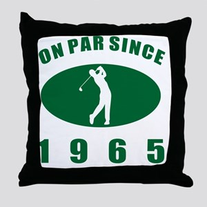 1965 Golfer's Birthday Throw Pillow