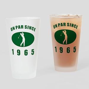 1965 Golfer's Birthday Drinking Glass