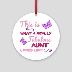 Fabulous Aunt Round Ornament