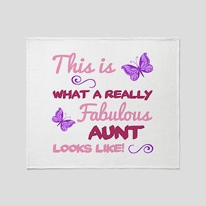 Fabulous Aunt Throw Blanket