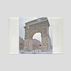 Greenwich Village: Washington Sq. Arch in Winter M