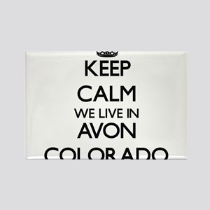 Keep calm we live in Avon Colorado Magnets